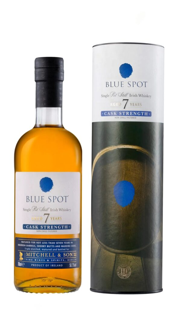 Blue Spot 7 Year Old Single Pot Still Cask Strength 50ml 1
